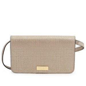 Metallic gold Henri bendel crossbody